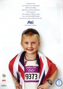 P&G Olympic Proud Sponsor of Mums advertising
