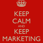 keep-calm-and-keep-marketing poster