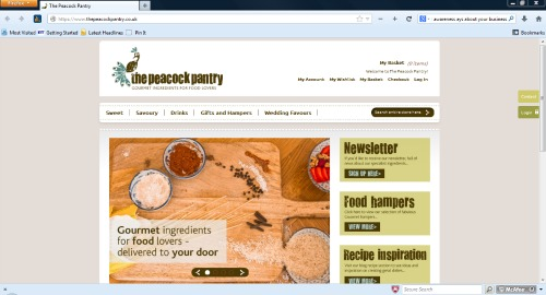 The Peacock Pantry new website design