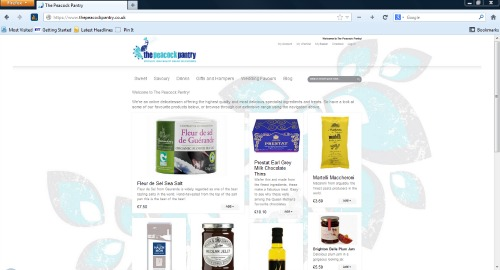 The Peacock Pantry original website design
